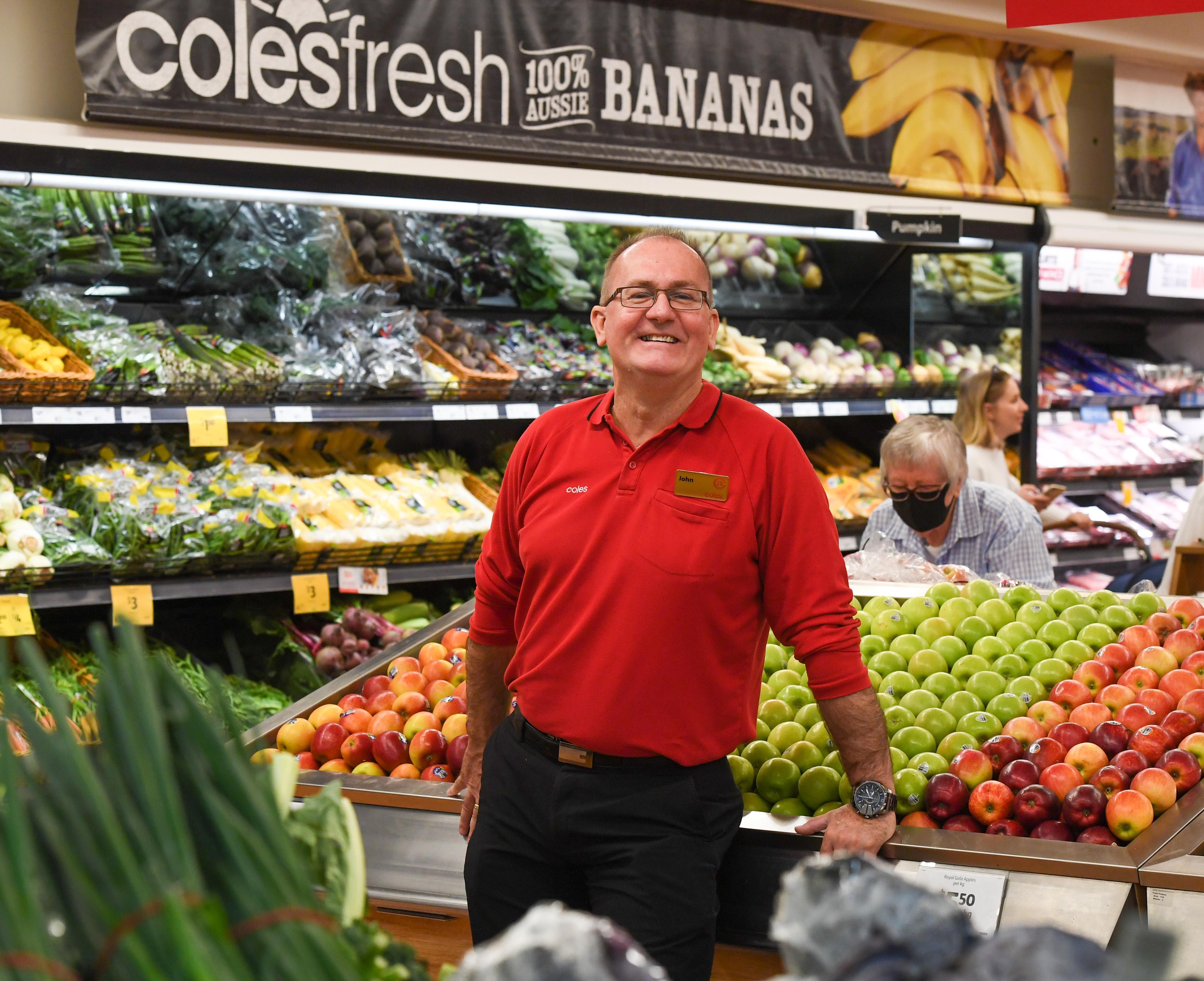 Coles Regional Manager John Appleby