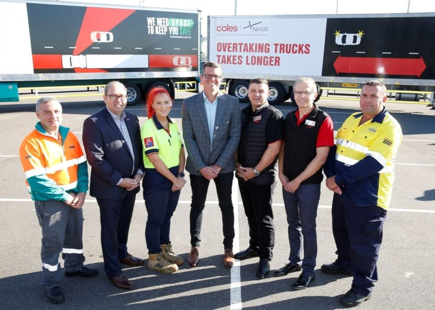 Coles trucks to be used in national road safety campaign